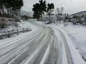 Icy conditions cause roads and walkways to become more dangerous
